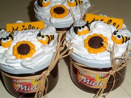 Vasetti miele con decorazioni in fimo